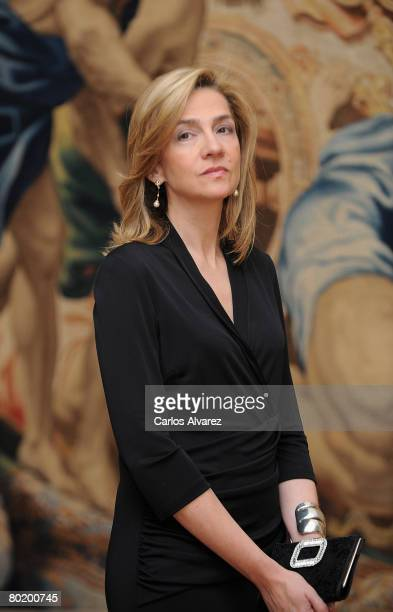 Princess Cristina of Spain attends 'Hilos de Explendor Tapices del Barroco' Exhibition Opening on March 11 2008 at the Royal Palace in Madrid Spai