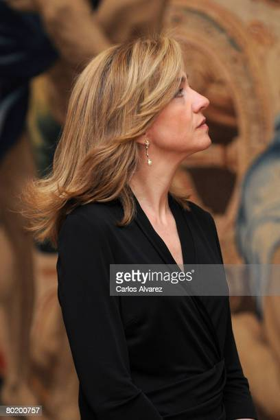 Princess Cristina of Spain attends 'Hilos de Explendor Tapices del Barroco' Exhibition Opening on March 11 2008 at the Royal Palace in Madrid Spain