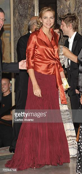 Princess Cristina of Spain attends TELVA Magazine Fashion Awards on October 23 2006 at Hotel Palace in Madrid Spain