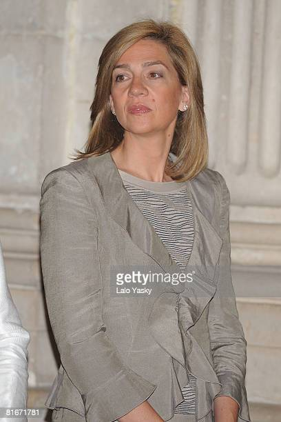 Princess Cristina of Spain attends the National Sports Awards ceremony held at The Royal Palace on June 23 2008 in Madrid Spain