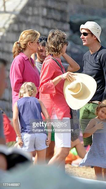 Princess Cristina of Spain Inaki Urdangarin and Ana Urdangarin are seen on August 9 2013 in Bidart France