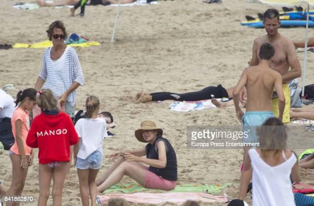 Princess Cristina of Spain Inaki Urdangarin and her sister Ana Urdangarin are seen on August 6 2017 in Bidart France