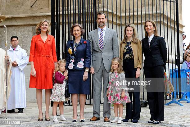 Princess Cristina of Spain Infanta Sofia of Spain Queen Sofia of Spain Prince Felipe of Spain Infanta Leonor of Spain Princess Letizia of Spain and...