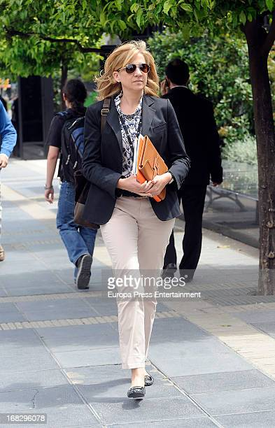Princess Cristina of Spain is seen leaving La Caixa Headquarters on May 8 2013 in Barcelona Spain Princess Cristina will not have to appear in court...