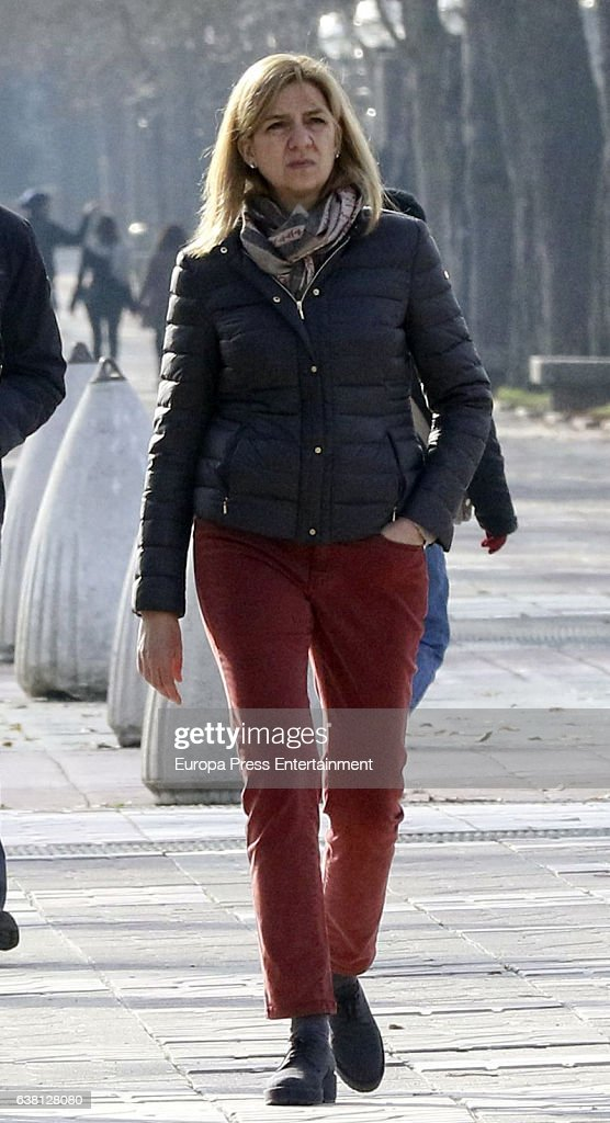 Princess Cristina of Spain is seen on December 27, 2016 in Vitoria-Gasteiz, Spain.