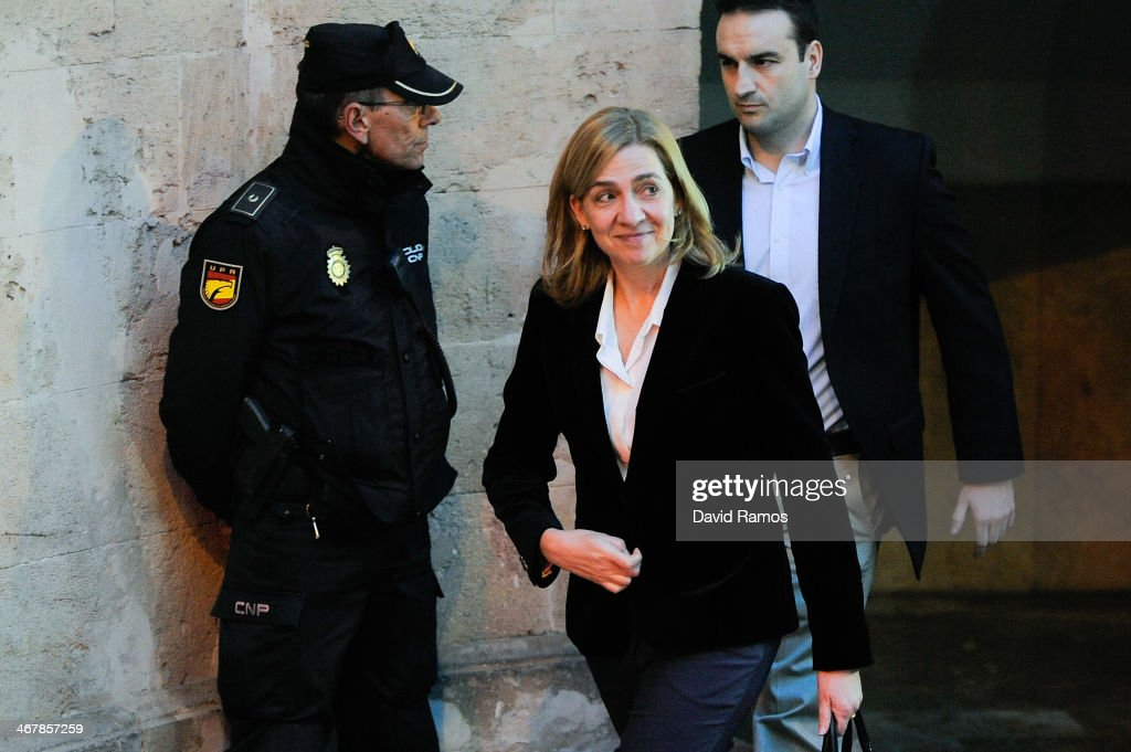 Hearing of Princess Cristina Of Spain in Noos Case in Palma de Mallorca : News Photo