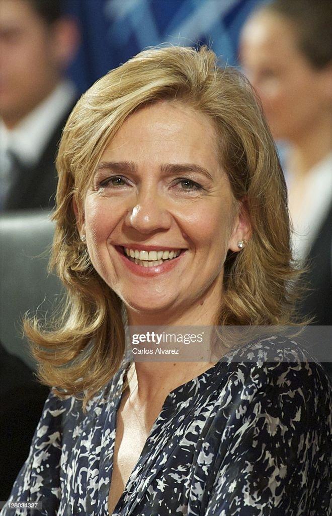 Princess Cristina of Spain presides 'Real Orden del Merito Deportivo' awards ceremony on October 5, 2011 in Madrid, Spain.