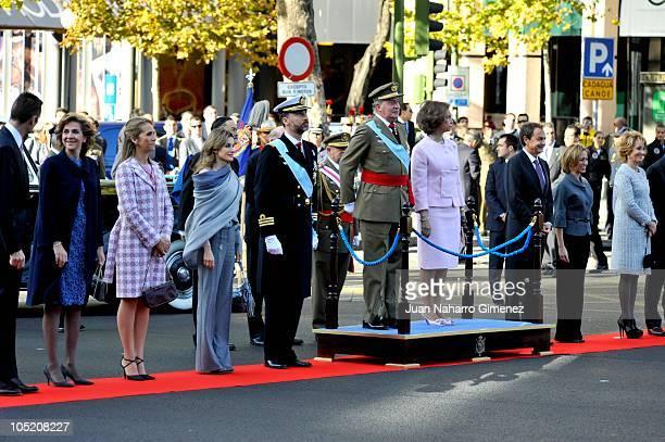 Princess Cristina of Spain Princess Elena of Spain Princess Letizia of Spain Prince Felipe of Spain King Juan Carlos I of Spain Queen Sofia of Spain...