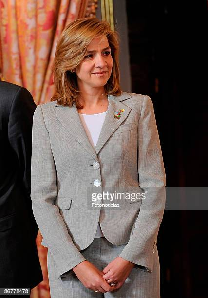 Princess Cristina of Spain receive Olympic Committee Evaluation Commission at The Royal Palace on May 8 2009 in Madrid Spain