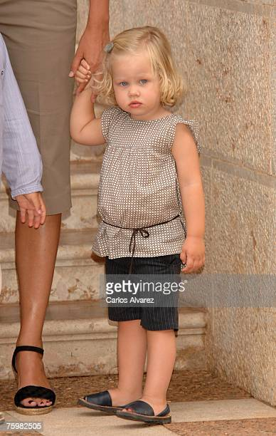 Princess Cristinas daughter Irene attends a photocall on August 6 2007 at Marivent Palace in Mallorca Spain
