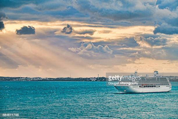 Princess Cruise Ship Arriving inKIng's Wharf,  Bermuda at Dawn