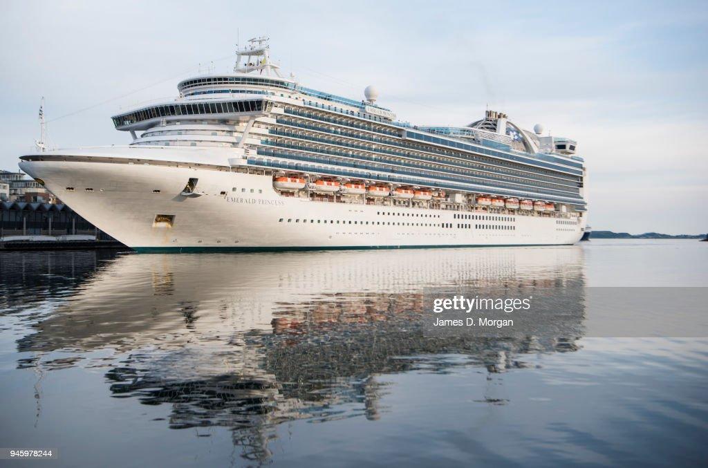 Emerald Princess, Princess Cruise Lines ship in Norway, Europe : News Photo