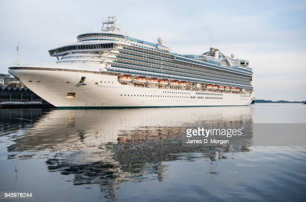 Princess Cruise ship Emerald Princess on June 03 2016 in Bergen Norway The magnificent ship with all its stunning features has been cruising the...
