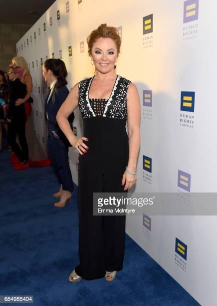 Princess Cruises Celebrations Ambassador Jill Whelan at The Human Rights Campaign 2017 Los Angeles Gala Dinner at JW Marriott Los Angeles at L.A....