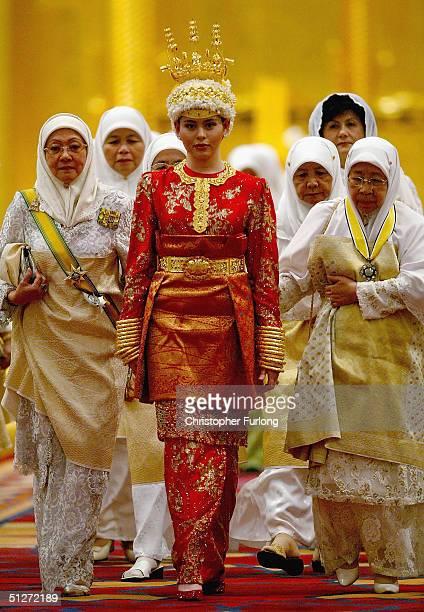 BEGAWAN BRUNEI SEPTEMBER 8 Princess Dayangku Sarah binti Pengiran Salleh Ab Rahaman takes part in the traditional ceremony of Berinai September 8...