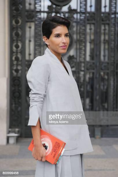 Princess Deena Aljuhani Abdulaziz attends the Elie Saab show as part of the Paris Fashion Week Womenswear Spring/Summer 2018 on September 30 2017 in...