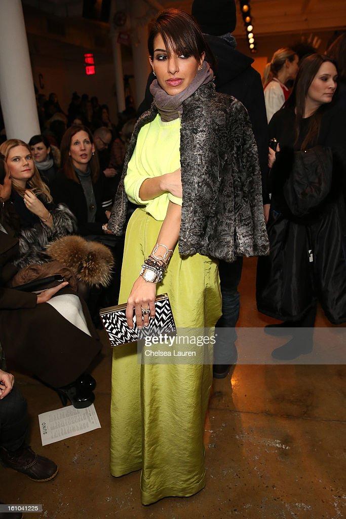 Princess Deena Al-Juhani Abdulaziz attends the Suno fall 2013 fashion show during MADE Fashion Week at Milk Studios on February 8, 2013 in New York City.