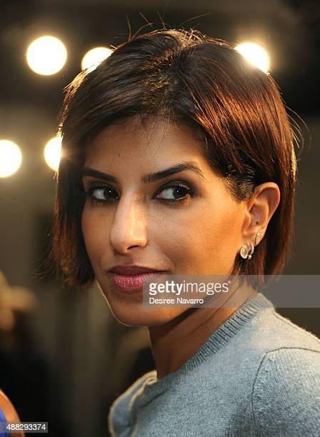 Princess Deena Aljuhani Abdulaziz attends Zero Maria Cornejo Front Row Backstage Spring 2016 New York Fashion Week at Shop Studios on September 14...