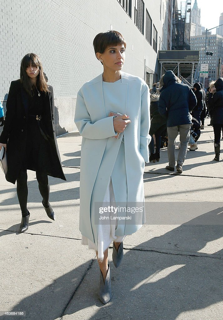 Princess Deena Aljuhani Abdulaziz is seen arriving at the Calvin Klein Collection during Mercedes-Benz Fashion Week Fall 2015 at Spring Studios on February 19, 2015 in New York City.