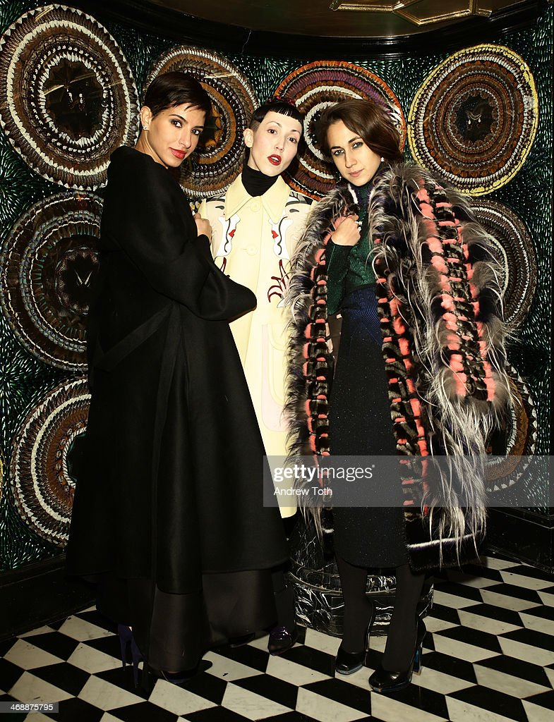 Princess Deena Al-Juhani Abdulaziz, Michelle Harper and Delfina Delettrez Fendi attend Miu Miu Women's Tales 7th Edition - 'Spark & Light' Screening - Inside at Diamond Horseshoe on February 11, 2014 in New York City.