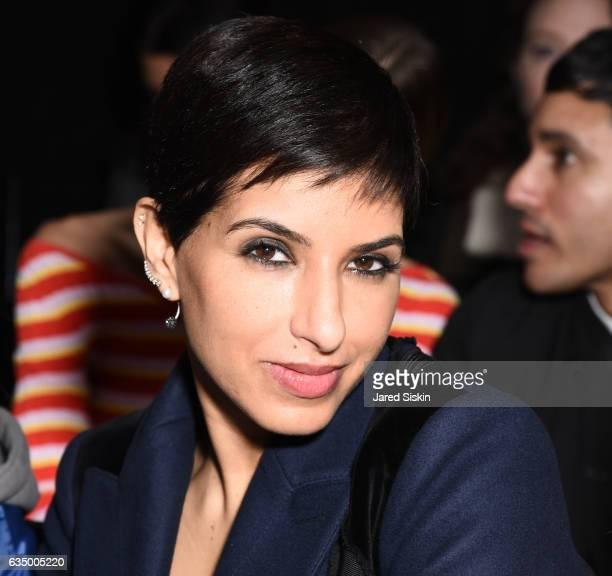 Princess Deena Aljuhani Abdulaziz sits frow at the Altuzarra Runway Show during New York Fashion Week at Spring Studios on February 12 2017 in New...