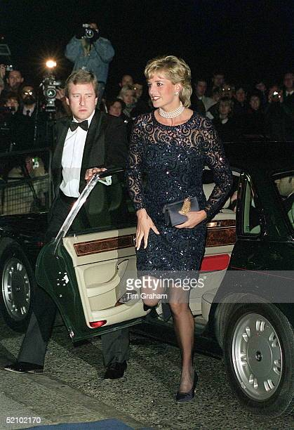 Princess Diana Alighting Her Car At The Royal Albert Hall As Patron Of The British Lung Foundation To Attend A Gala Performance Of The Opera La Boheme
