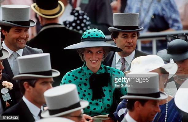 Princess Diana Among The Crowd At Royal Ascot.
