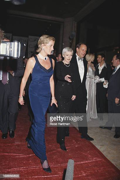 Princess Diana and Liz Tilberis arrive at the 14th Annual CFDA Awards, 1995.