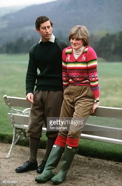 Princess Diana And Prince Charles At Craigowan Lodge, Balmoral Estate