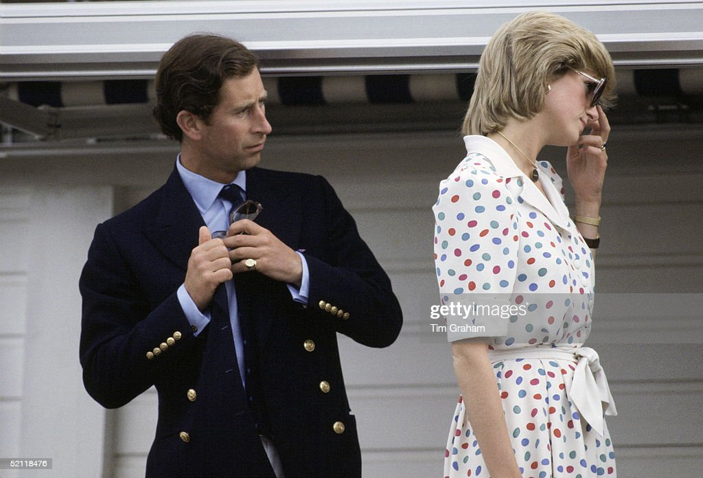Diana And Charles At Guards Polo Club : News Photo
