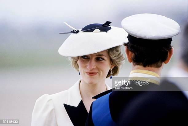 Princess Diana And Prince Charles At Heathrow Airport