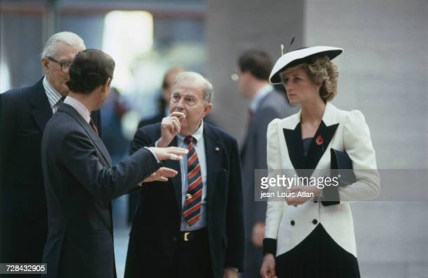 Princess Diana and Prince Charles at the National Gallery of Art in Washington DC during an official trip to the United States 10th November 1985