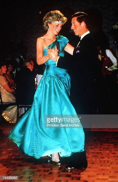 Princess Diana and Prince Charles dancing at a ball held at the Southern Cross Hotel Melbourne 31st October 1985