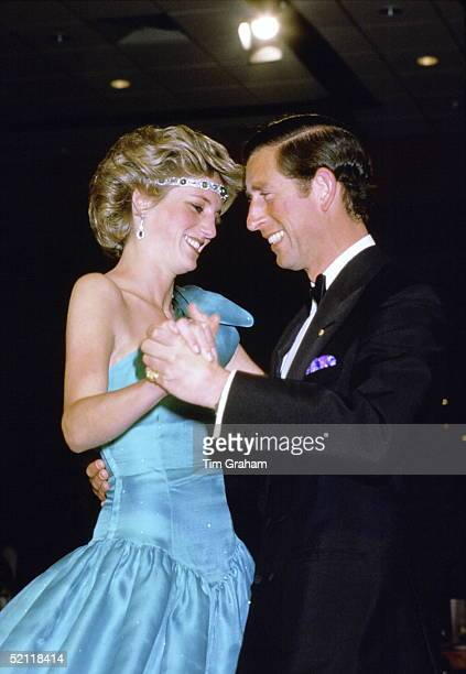 Princess Diana And Prince Charles Dancing In Melbourne During Their Royal Tour Of Australia