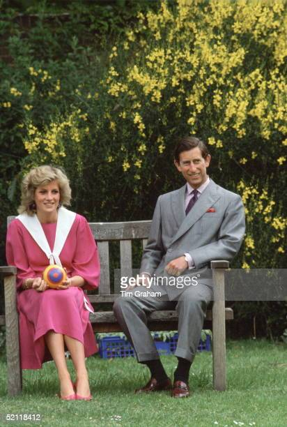 Princess Diana And Prince Charles In The Gardens Of Kensington Palace