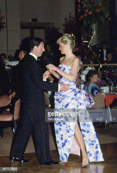 Princess Diana And Prince Charles Leading The Dance At A