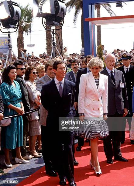 Princess Diana And Prince Charles Visiting The Cannes Film Festival