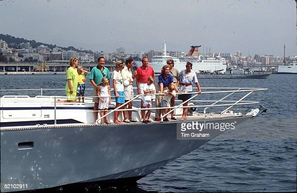 Princess Diana And Prince Charles With Prince William Prince Harry King Constantine And Queen Annemarie Of Greece Princess Theodora Prince Philippos...
