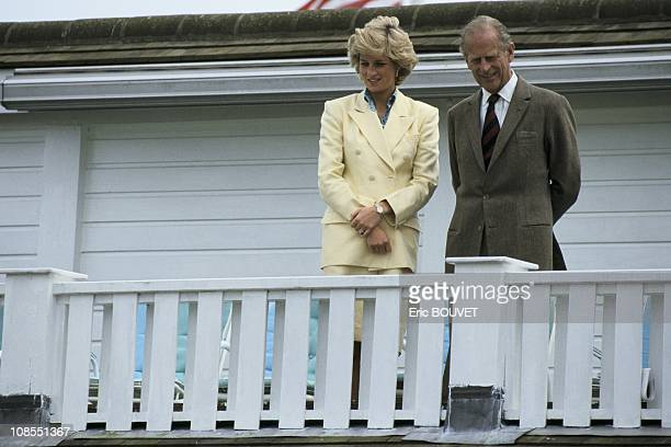 Princess Diana and Prince Philip in Windsor, United Kingdom on July 26th , 1987.