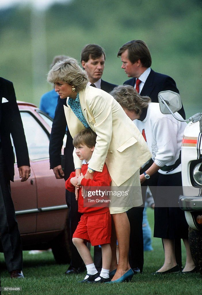 Diana And William At Polo : News Photo