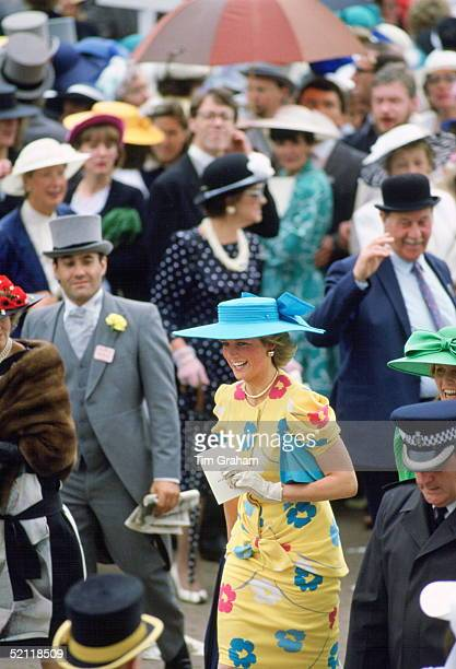 Princess Diana And Sarah Duchess Of York Attending Royal Ascot Races