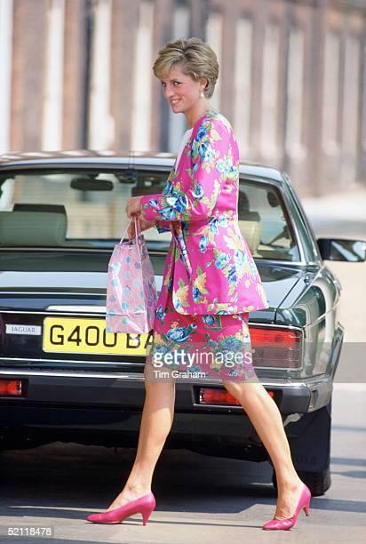 Princess Diana Arriving At Clarence House