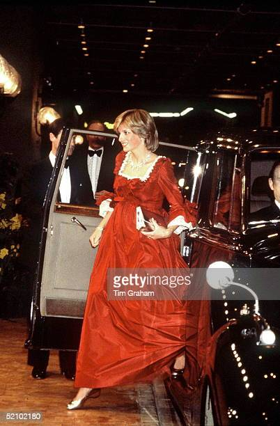 Princess Diana Arriving At The Barbican Centre In London