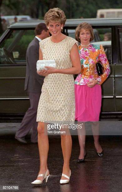 Princess Diana Arriving At The Bolshoi Ballet To Watch 'les Sylphides' During Her Visit To Russia