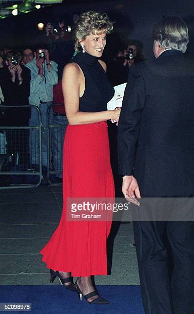 Princess Diana Arriving For A Pavarotti Concert At Royal Albert Hall In Aid Of The Red Cross As She Is Patron Of British Red Cross Youth And Vice...