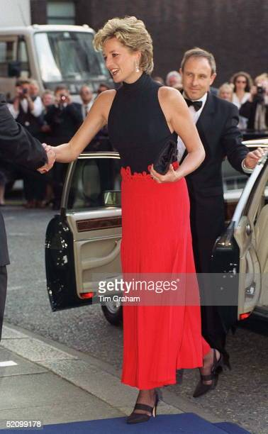 Princess Diana Arriving For A Pavarotti Concert At Royal Albert Hall In Aid Of The Red Cross 125th Birthday Appeal She Is Patron Of British Red Cross...