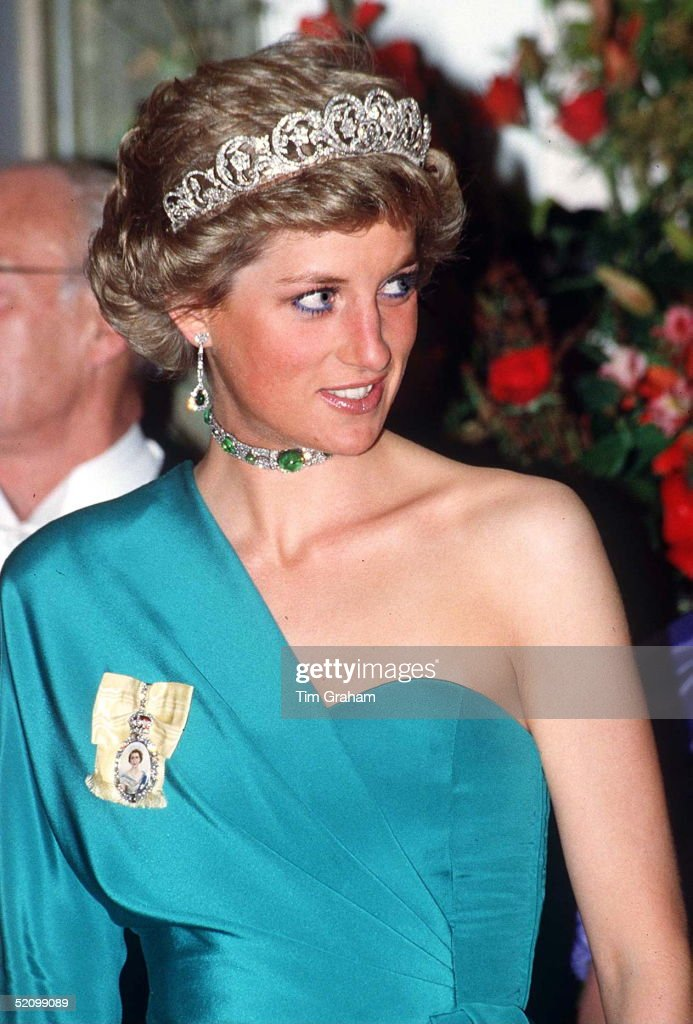 Princess Diana Emeralds Jewels : News Photo