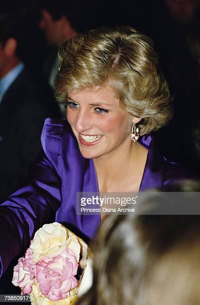 Princess Diana at a rock concert in Melbourne November 1985