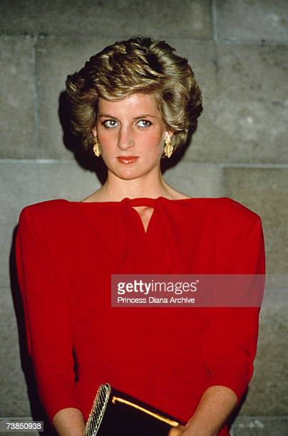 Princess Diana at a state reception in Melbourne October 1988