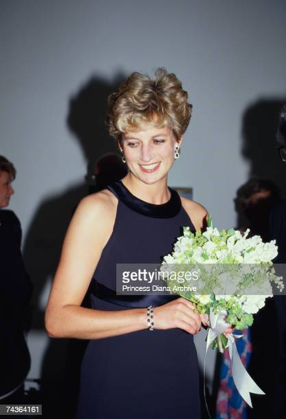 Princess Diana at a Vanity Fair gala dinner at the Serpentine Gallery London 10th June 1993